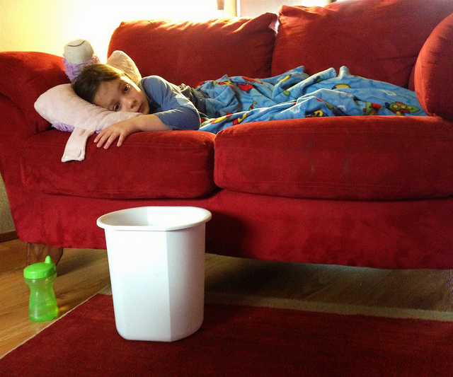 Mom vs. Puke – How do you win? Because, the battle is real!
