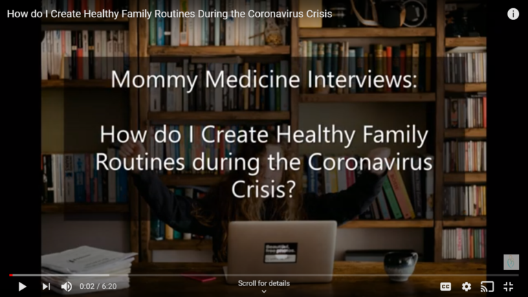 Vlog – How do I Create Healthy Family Routines During the Coronavirus Crisis?